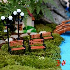 2017 Miniature Fairy Garden Ornament Decor Pot DIY Craft Accessories Dollhouse 1 PC Brown Benches