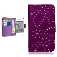 Samsung Galaxy S4 mini i9195 housse pourpre strass bling scintillement