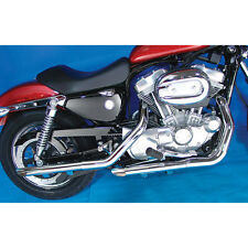 Chrome Slash Cut Exhaust Mufflers Drag Pipe Extensions 2004-13 Harley Sportster
