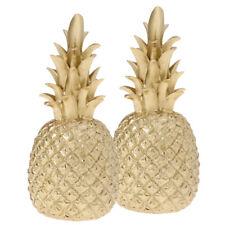 2xResin Gold Ananas Ornament Foto Prop Decor Crafts Tischdekoration L
