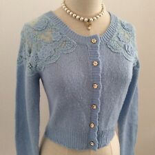 LIZ LISA Cardigan Long Sleeve Light Blue Kawaii Japan Gyaru Hime Fashion #12327