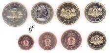 Letonia todos 8 monedas 2015 con 2 euro conmemorativa schwarzstorch