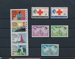 LN82935 Turks & Caicos sports human rights fine lot MNH