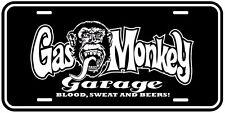 Black Gas Monkey Garage Aluminum Novelty Collectible Auto Plate 6x12