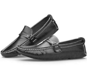 US11 Men's Casual Moccasins Driving Loafers Boat Dress Shoes Slip On Soft Flat