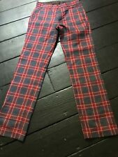 Vintage Tartan Checked Trousers