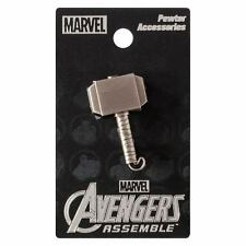 Thor Mjolnir Hammer Marvel Comics Pewter Lapel Pin!