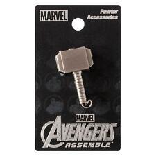 Thor Mjolnir Hammer Marvel Comics Pewter Lapel Pin!