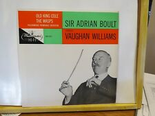SIR ADRIAN BOULT CONDUCTS VAUGHN WILLIAMS OLD KING COLE WASPS WESTMINSTER N/M LP
