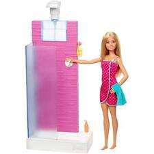 Mattel FXG51 Barbie Deluxe-Set Möbel Shower und Puppe OVP