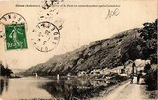CPA Chooz - Petit Chooz et le Pont en reconstruciton apres l'armistice (135291)
