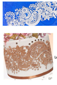 LOVE LACE READY MADE EDIBLE CAKE LACE.  .......GREAT COLOURS