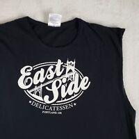 East Side Delicatessen T-Shirt Portland Pub Oregon Beer Souvenir Black Sz Large
