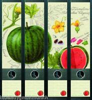File Art 4x Ordner-Etiketten WATTERMELON Ordner RÜCKENSCHILDER Sticker 426