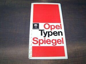 TOPRARITÄT Herrlicher Prospekt Opel Typenspiegel von 1968 Daten aller Modelle !!