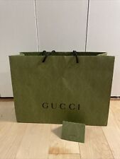GUCCI Authentic Green Equilibrium Paper Shopping Bag 19 X 14 X 6.5