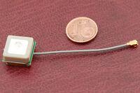 Alda PQ SMD Antenne pour GPS avec UFL Fiche et 5cm Câble
