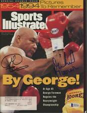 GEORGE FOREMAN &Michael Moorer dual-signed 1994 Sports Illustrated Autograph BAS