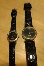 Vintage Diamond Men's and Ladies matching watch, running with new battery NR M01
