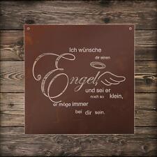 Edelrost Gedicht Tafel Engel Spruch Deko Wandbild Dekoration Metall Rost Garten