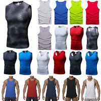Men's Sleeveless Sport Body Compression Wear Base Layer Tank Top Vest Shirt