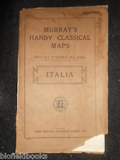 MURRAY'S Handy classica mappe-ITALIA/SICILIA (ITALIA/SICILIA) 1926-G B Grundy