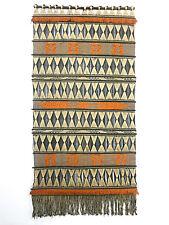 73x37 Vintage Fiber Art Wall Hanging Weaving Bohemian Tribal Mid Century Modern