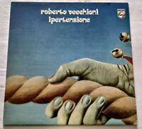 ROBERTO VECCHIONI LP IPERTENSIONE VINYL 33 GIRI 1975 ITALY PHILIPS 6323040 NM/NM