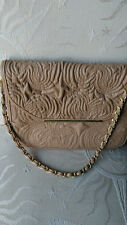 IVANKA TRUMP quilted TAN faux leather bag with chain strap ~ NWOT