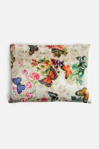 Johnny Was DECKLYN PILLOW CASE Silk Butterfly Flower Shams PillowCases Ecru New