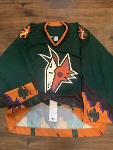 Team Issued Phoenix Coyotes Desert 3rd alt Authentic Koho Hockey Jersey Green 58