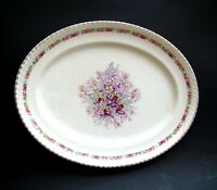 "Johnson Brothers The Queen's Bouquet Platter 12 1/2"" Purple Orchids Platter"