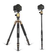 Z818C Carbon Fiber Travel Tripod Monopod&Ball Head for Canon Canon Sony Camera