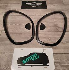 Mini R60 Countryman y R61 incorporadas Cabeza Luz Cubre Cromo De Negro Brillante