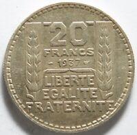 FRANCE 20 FRANCS 1937 ARGENT