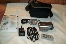 JVC 30 GB Camcorder -  SILVER.  WITH CHARGER, JVC CARRY BAG AND REMOTE.