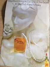 B8b Ephemera Vintage Advert J&b Scotch Whisky