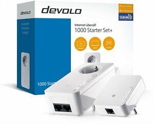 DEVOLO 1000 STARTER SET+ dLAN Adapter Set Steckdose 1000 Mbit/s Power LAN - NEU