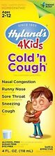 Hyland's 4 Kids Cold 'n Cough Ages 2-12 4 fl oz Homeopathic 100% Natural
