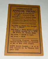 Rare Antique American Lithuanian Workers Picnic Program Sport & Prizes! MA 1939