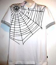 Love Moschino White Summer Web Design Cotton Men's T-Shirt Polo Size XL NEW