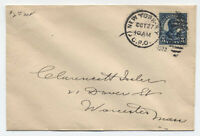 1922 5ct Roosevelt #57 New York first day cover Scott $190 [y3645]