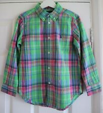 Ralph Lauren Green Pink Blue Check Long Sleeve Cotton Shirt Age 6 Years