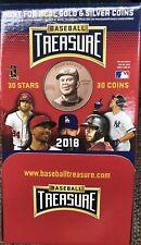2018 Baseball Treasure MLB Coins 36 Packs Sealed Box! BRAND NEW!