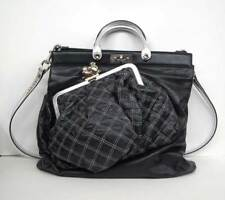 MARC JACOBS Black ROBERT DUFFY Leather Bag on bag Quilted Tote Bag Purse NEW