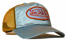 VON van DUTCH MESH TRUCKER BASE CAP [SATIN BLUE/ORANGE] MÜTZE BASECAP KAPPE HUT