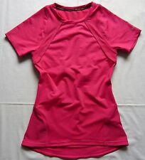 Reebok DA Laufshirt T-Shirt Sport Gr.XS rosa Polyester elastisch
