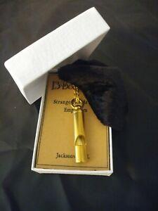 Brass Seafarers Whistle Pendant