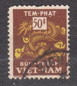 South VIETNAM 1956 used SC#J13 50pi stamp,  Postage Due Stamp.