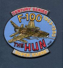 F-100 SUPER SABRE North American Aviation USAF TFS Fighter Squadron Jacket Patch